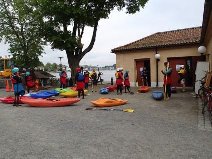 Prova på-paddling